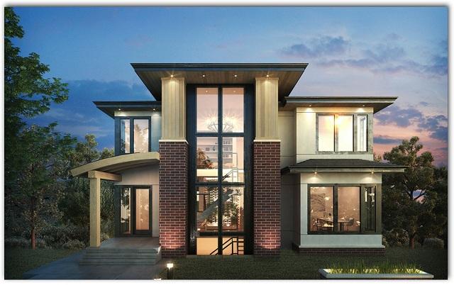 plano de casa moderna de tres pisos planos de casas