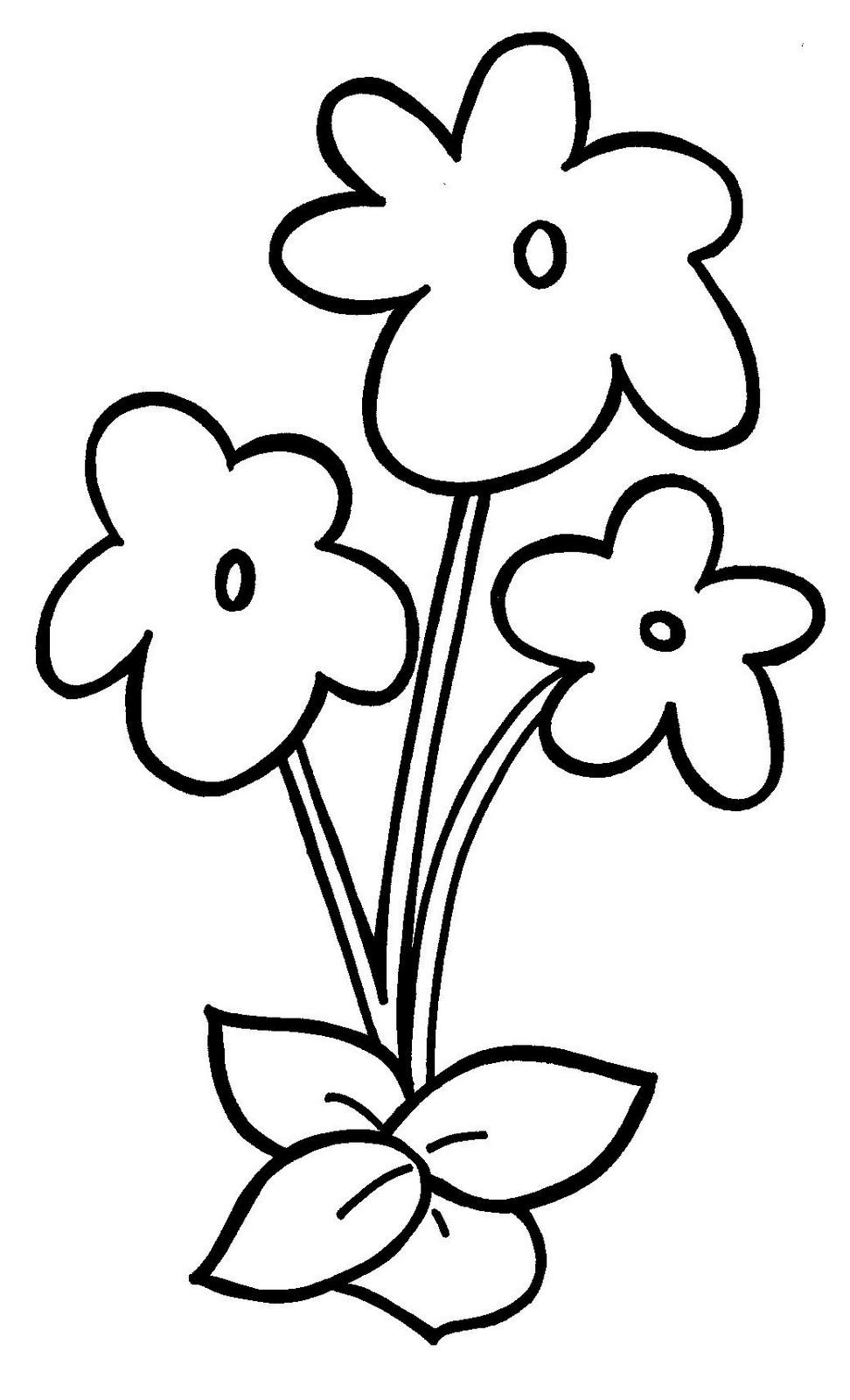 violet flower coloring pages