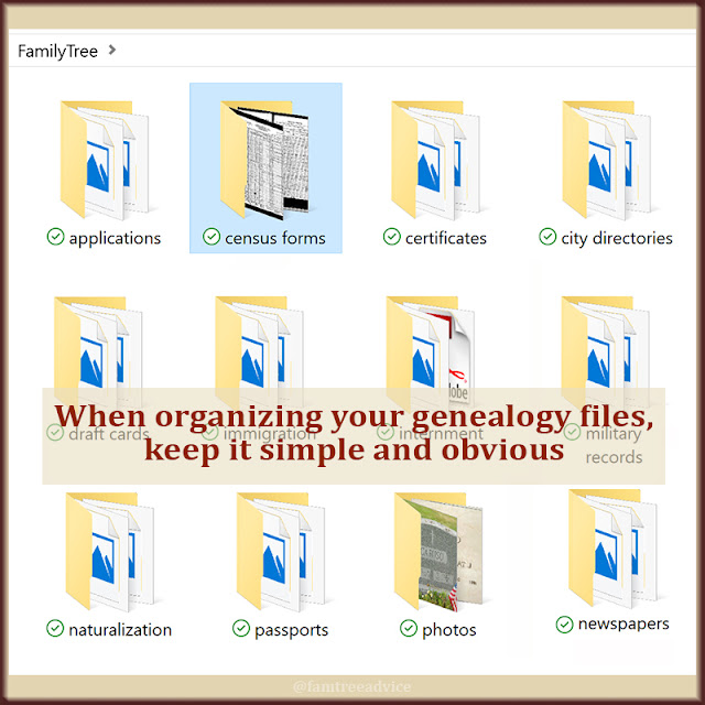 Simple, logical file folder names remove any confusion.