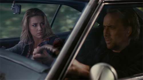 Amber Heard and Nicolas Cage in Drive Angry