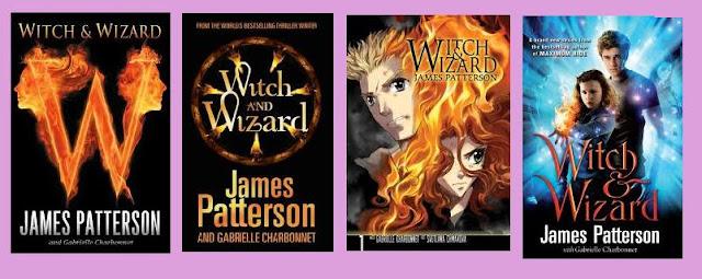 portadas de la novela de fantasía distópica infantil Witch and wizard, de James Paerson y Gabrielle Charbonnet