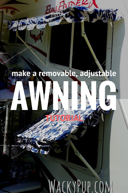 How to make a fully adjustable, removable awning from PVC - full tutorial! Genius!