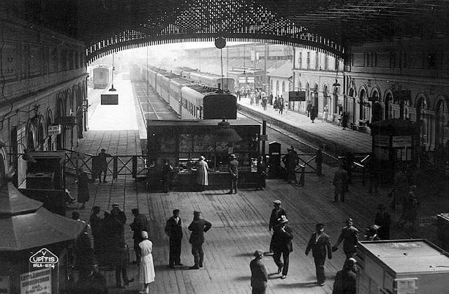 1934 год. Рига. Железнодорожный вокзал (станция Rīga Pasažieru)