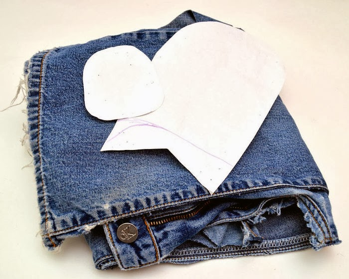 Теплые тапочки в виде мокасин, из джинсов. Slippers from jeans