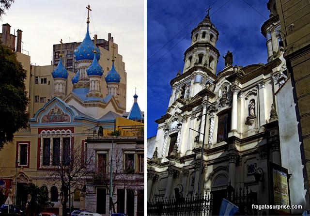 Catedral Ortodoxa e Igreja de San Telmo, em Buenos Aires