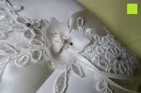 Blume: Hochzeit Ringkissen mit Satin Bogen 21cm* 21cm