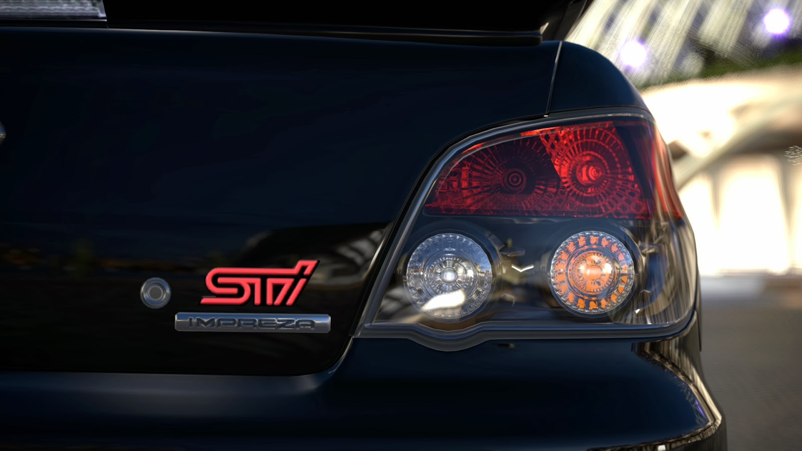 Tail Lights And The Red Sti Badge Plus Impreza Label