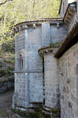 Monasterio de Santa Cristina de Ribas del Sil en la Ribera Sacra, en Orense