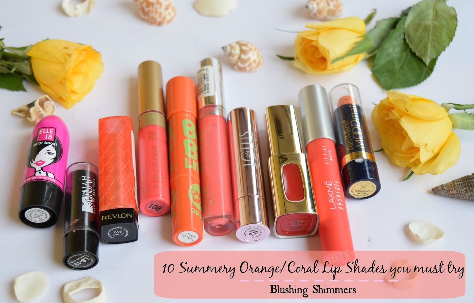 10 Orange/Coral Lip Shades to try this Summer