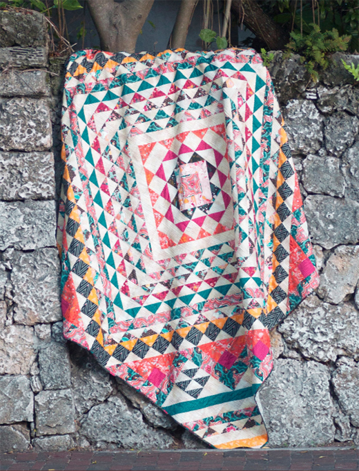 Mystica Quilt Free Pattern designed by Pat Bravo of Live art gallery fabrics, featuring Legendary Collection