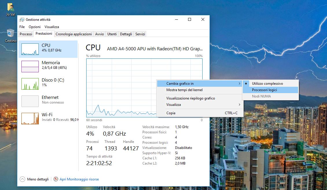 Come creare ad hoc un carico della CPU al 100% in Windows 10 3 HTNovo