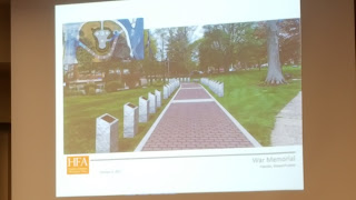 proposed veterans walkway on Town Common - walkway view from Union St corner