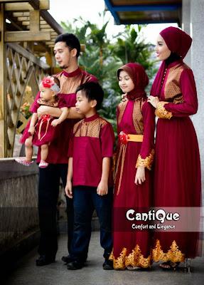 Koleksi Model Busana Gamis Muslim Keluarga Terpopuler