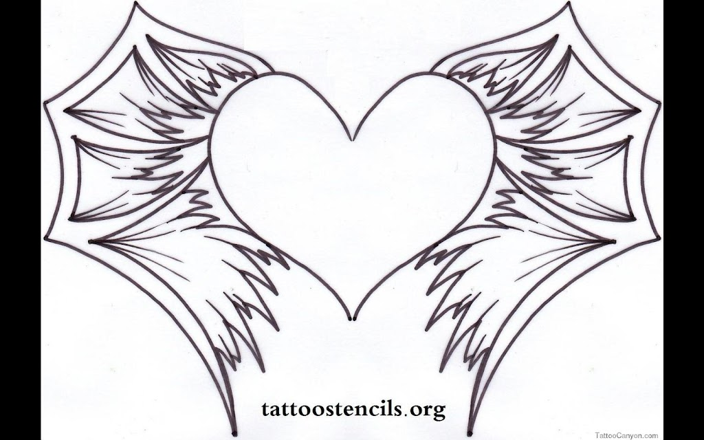 best free hearts with wings coloring pages pictures free
