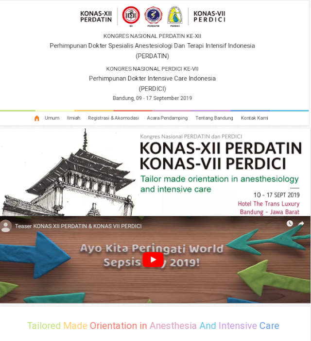 """12th National Congress of Indonesian Society of Anesthesia and Intensive Therapy 7th National Congress of Indonesian Society of Intensive Care Medicine in Conjunction with 7th World Sepsis Day* Bandung (September 9th-17th 2019)"