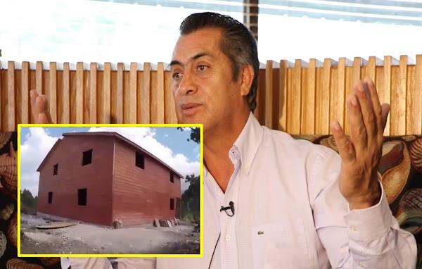 El Bronco dice que no declaró mansión en 3de3 porque la construyó este año