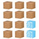 Minecraft Wood Planks & Glass Mine-Keshi Block Set Figure