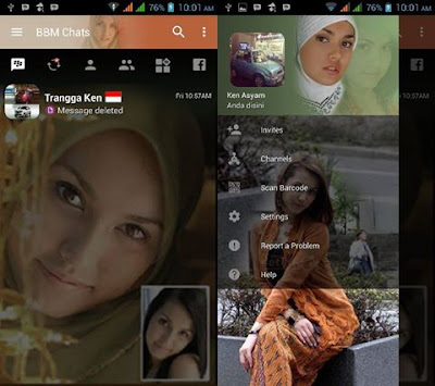 BBM Siti Maria Ozawa v3.2.0.6 Mod Apk Sexy