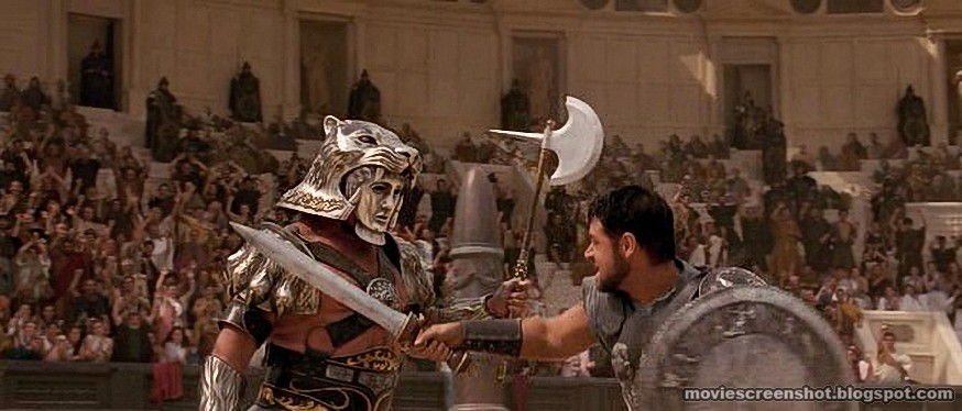 Gladiator movie screen...