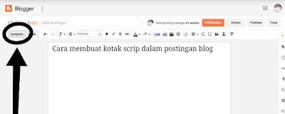 Cara membuat kode script di postingan blog