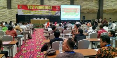 Pelaksanaan Tes Psikologi Calon Anggota Bawaslu Kabupaten/Kota se-Provinsi Lampung 2018