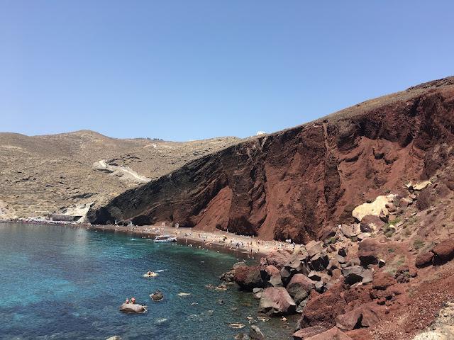 Red Beach on Santorini, Greece