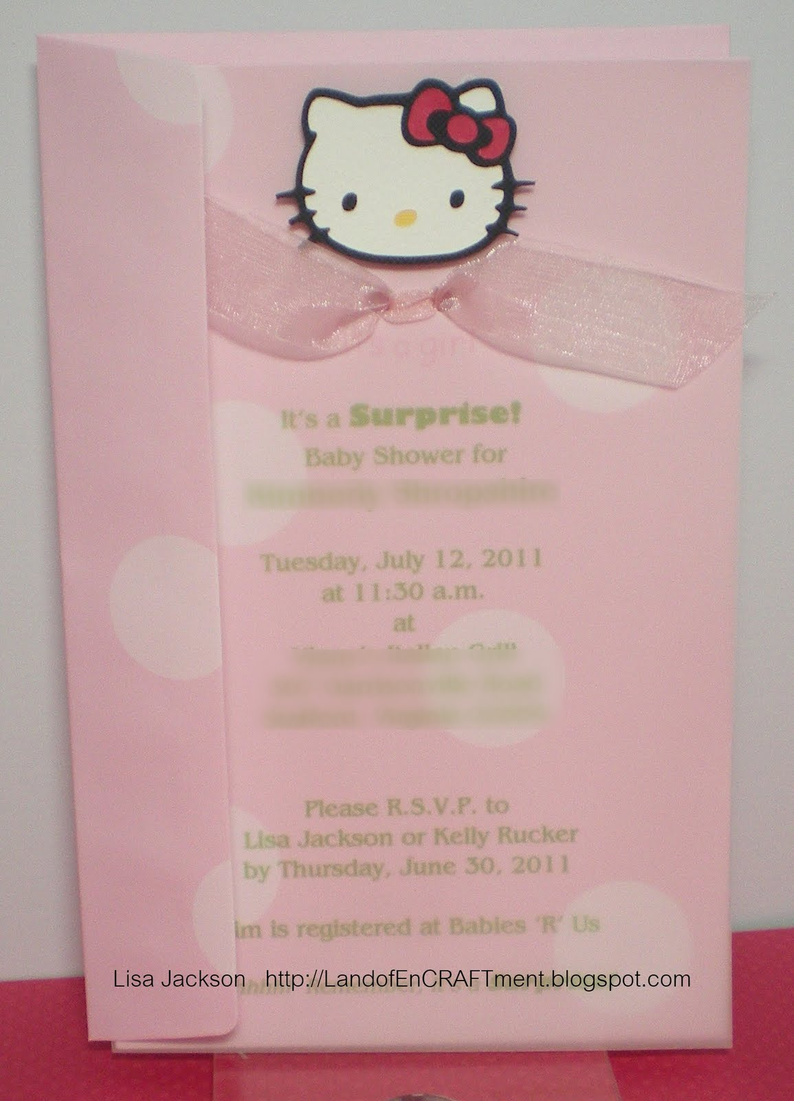 land of encraftment hello kitty baby shower. Black Bedroom Furniture Sets. Home Design Ideas