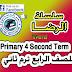 تحميل مذكرة الرضا للصف الرابع ترم ثاني لغة انجليزية
