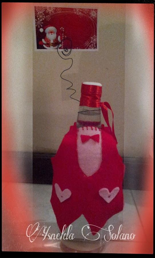 Decoración-de-botella-de-navidad