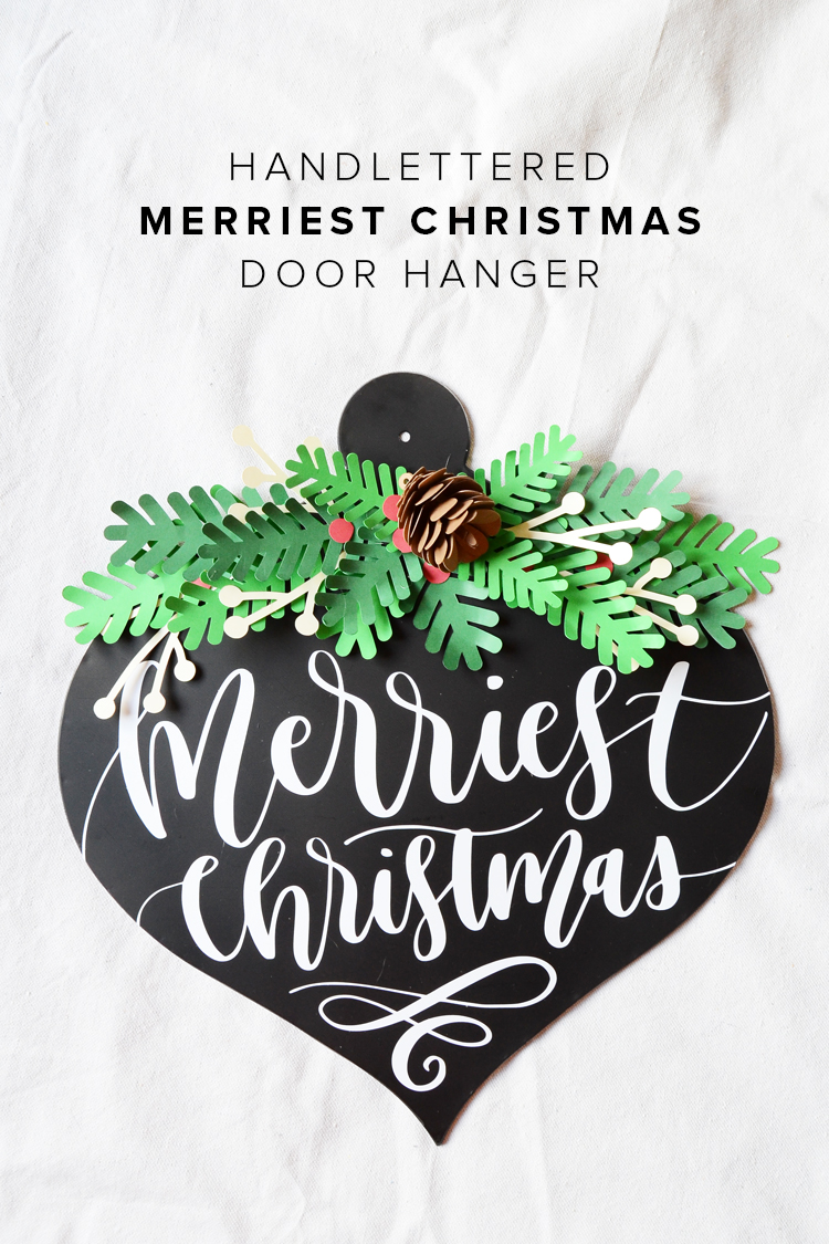 Merry Christmas Door Hanger and Vinyl Blog Hop Giveaway for Cameo 3
