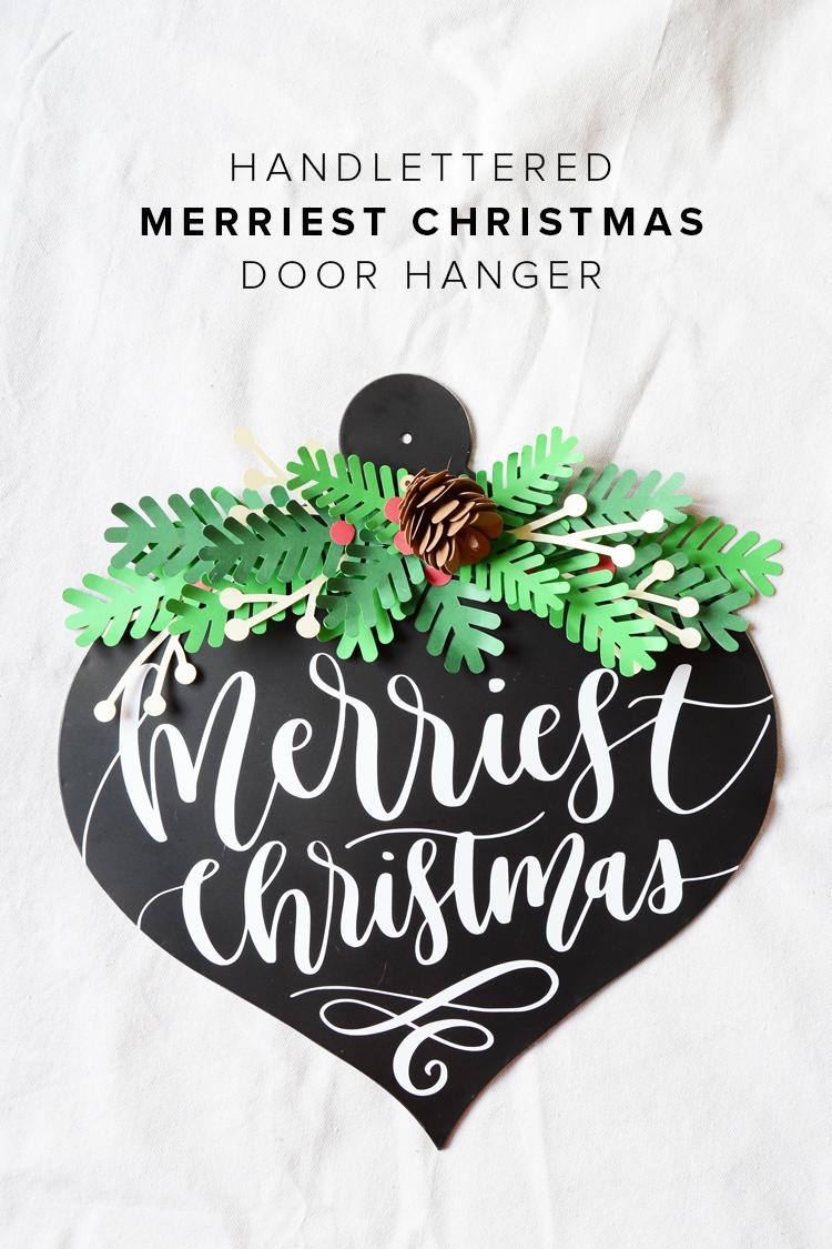 Merry Christmas Door Hanger and Vinyl Blog Hop Giveaway for Cameo 3