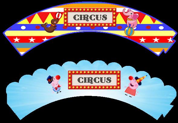 Wrappers para cupcakes de Peppa Pig en el Circo.