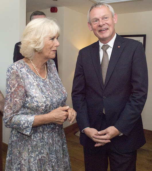 Prince Charles and Duchess Camilla met with members of the TV show 'Doc Martin' at Nathan Outlaw's restaurant