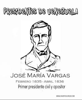 Dibujo para colorear José María Vargas