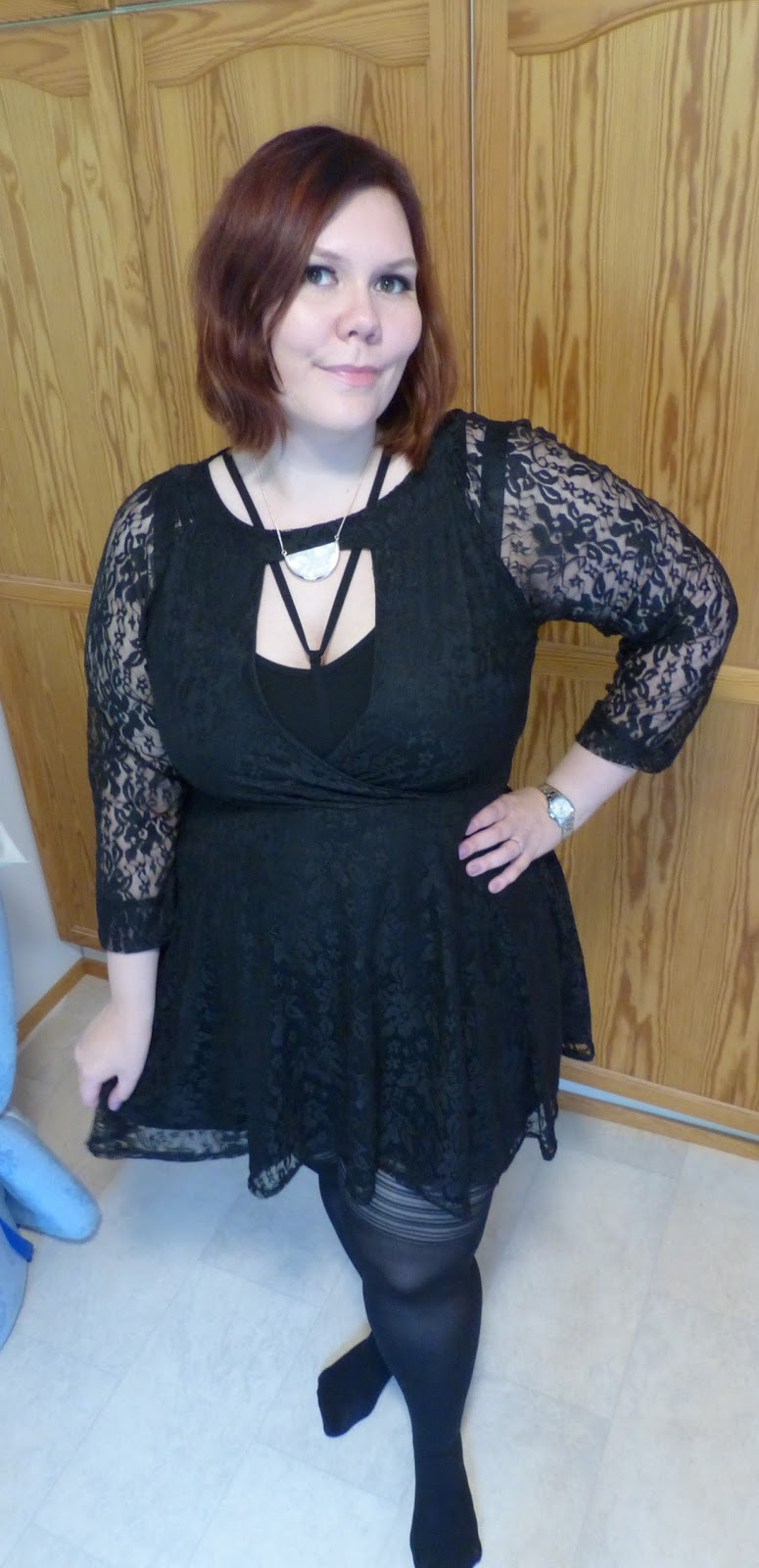 86e93a16d3c7c Boohoo Plus Emily Lace Skater Dress