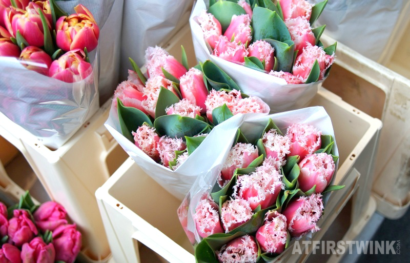 raffled tulips Markthal Rotterdam Netherlands