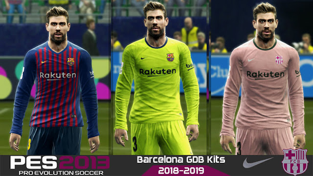 Ultigamerz: PES 2013 FC Barcelona Full Kits 2018-2019 By