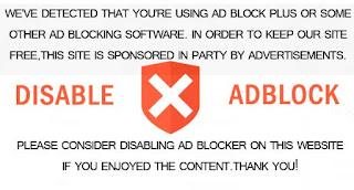 mostrar advertencia para desactivar adblock