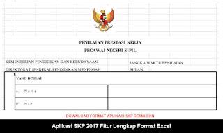 Aplikasi SKP 2017 Fitur Lengkap Format Excel