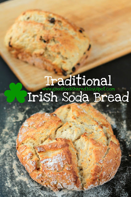 Traditional Irish Soda Bread, a recipe from my childhood. A real Irish recipe with a long Irish history. www.goodfoodshared.blogspot.com