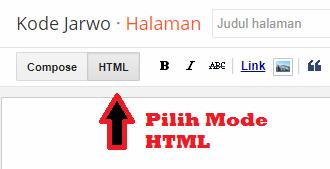 Memilih Mode HTML