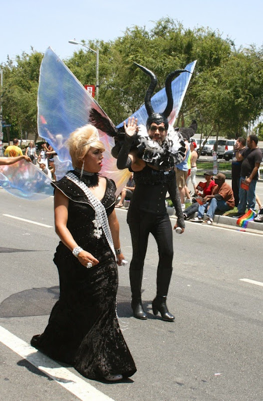Maleficent costume West Hollywood Pride Parade 2014