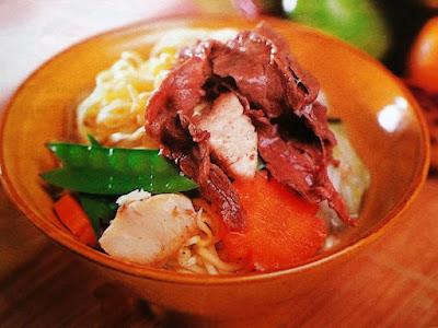 Gambar Resep Mi Kuah Daging Sukiyaki