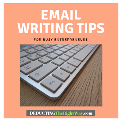 proofreading tips for small business emails | www.deductingtherightway.com