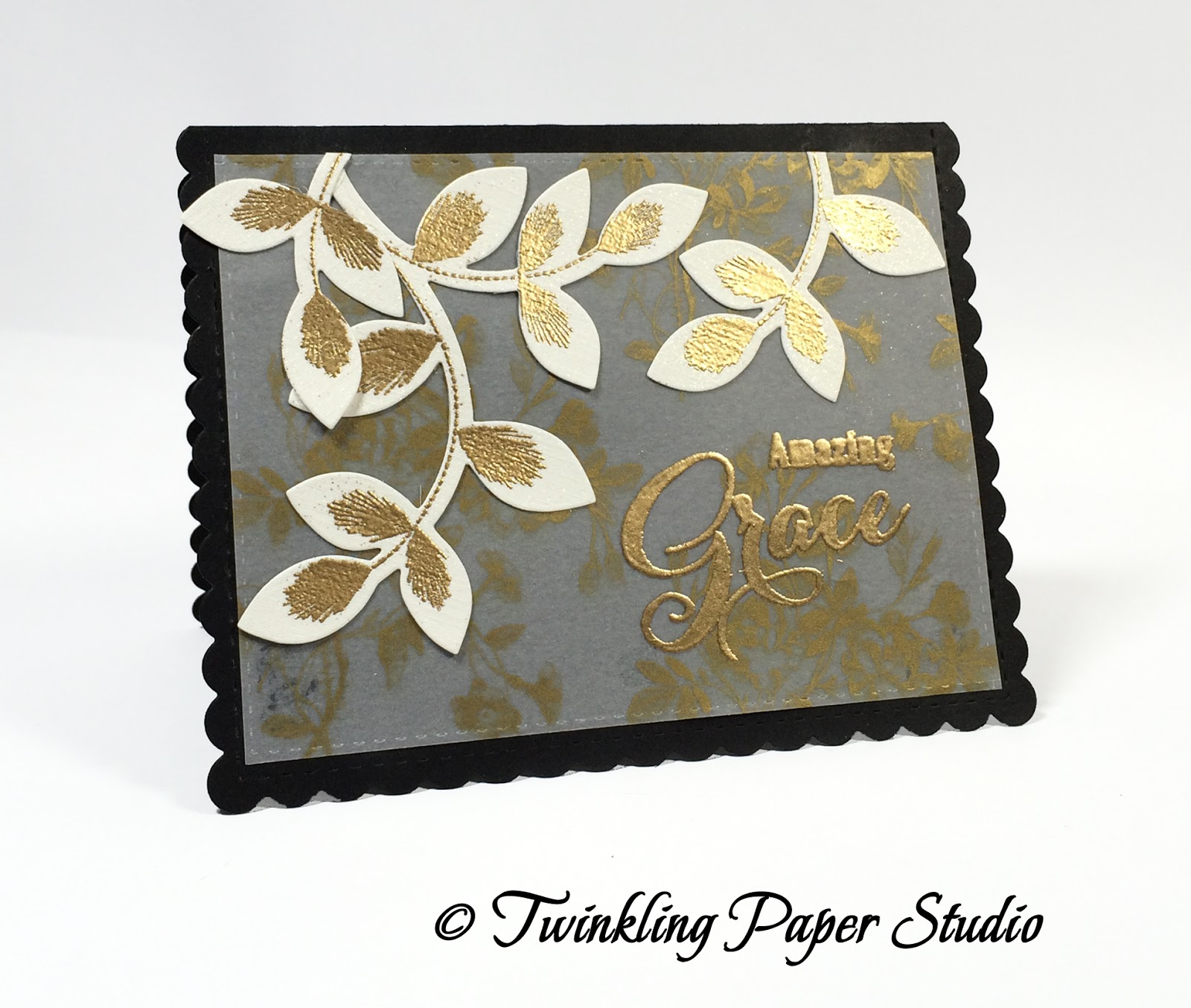 Cream colored cardstock paper studio - Next I Cut Several Of The Large Leafy Stems From Turning A New Leaf Dies And Stamped Them Using The Stamps From Embroidered Blooms