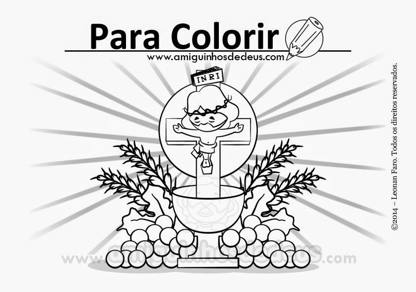 Solenidade De Corpus Christi Desenho Para Colorir Amiguinhos De Deus