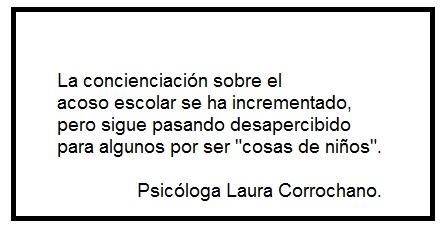 Acoso escolar por Psicóloga Laura Corrochano
