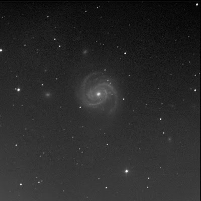 galaxy Messier 100 in luminance