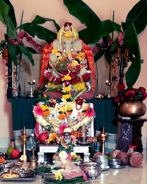 ganesha, ganpati, green, shadu, clay, festival, mumbai, india, religion, hindu,