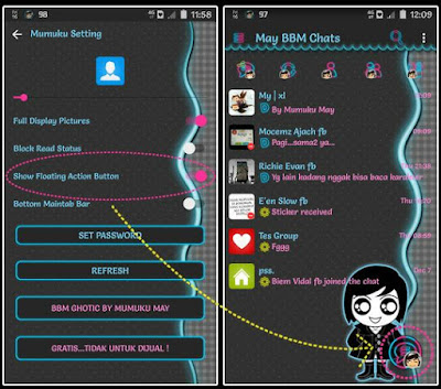 Download BBM Ghotic Lucu v3.2.0.6 APK for Android Clone & Unclone Update 2016 Gratis